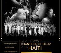 """Diffusion live en streaming du concert le 14 janvier """"La Ville Rose Chante en Choeur pour Haïti"""""""