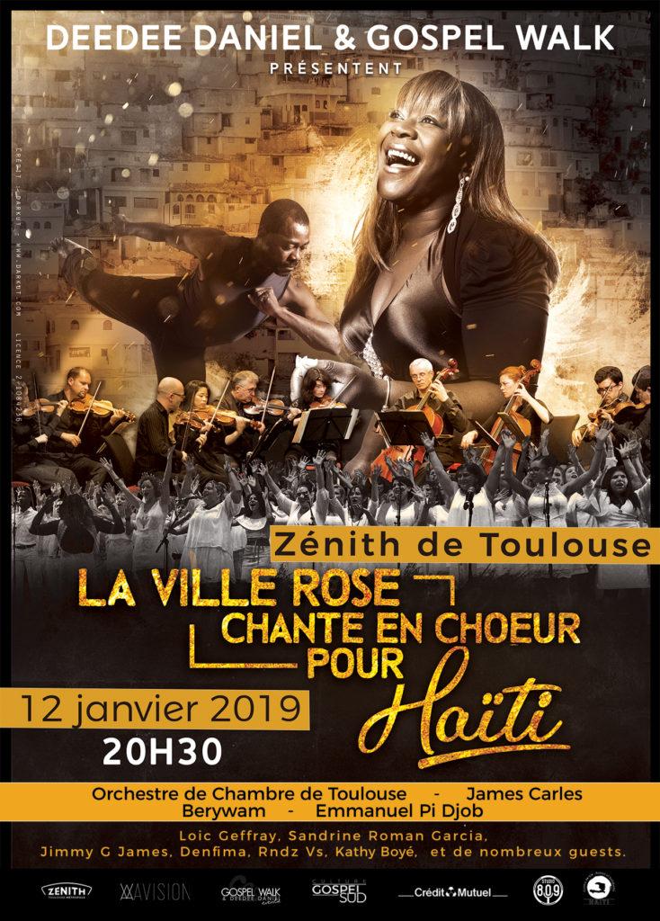 la ville roce chante en choeur pour Haïti gospel walk deedee daniel