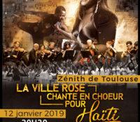"""Lancement du concert """"La Ville Rose Chante en Choeur pour Haïti 2019"""" au Zénith de Toulouse"""