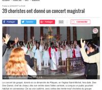 Mauvezin 39 choristes ont donné un concert Magistral – Article La Dépêche du Midi