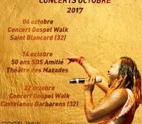 Les concerts d'octobre 2017 Gospel Walk